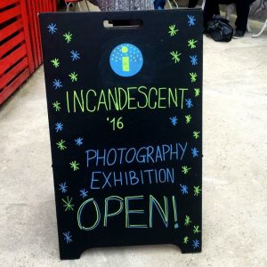 My chalk board for Incandescent '16's exhibition 📸